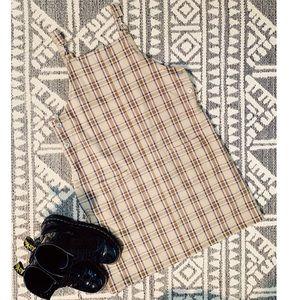 Plaid Punk Overall Dress